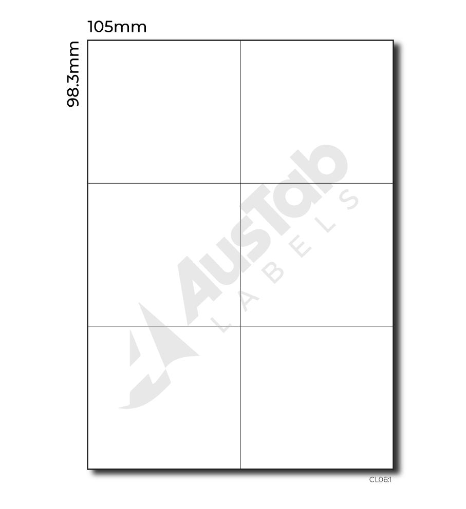 6 labels per page cl06 1 austab