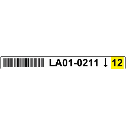 22x220 Racking Label Picture YELLOW scaled