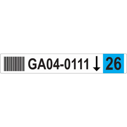 50x326 Racking Label Picture BLUE scaled