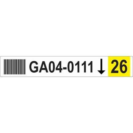 50x326 Racking Label Picture YELLOW scaled