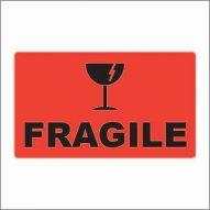 74x130 FRAGILE - Fluoro Red