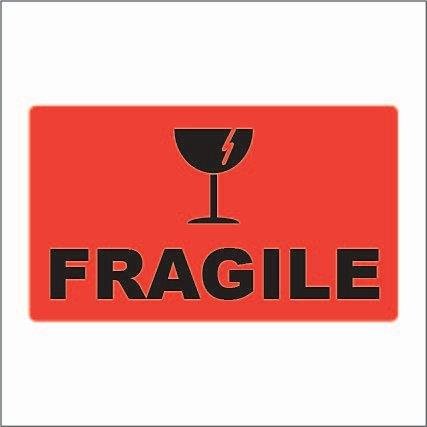 74x130 FRAGILE - Fluoro Red